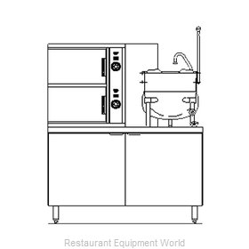 Blodgett Steam SB-6G-10K Steamer Kettle Combination, Gas