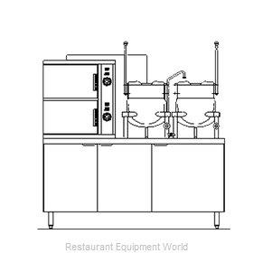 Blodgett Steam SB-6G-6-6K Steamer Kettle Combination, Gas