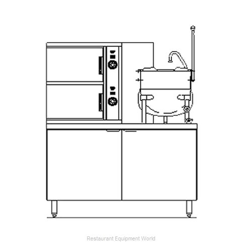 Blodgett Steam SB-6G-6K Steamer Kettle Combination, Gas