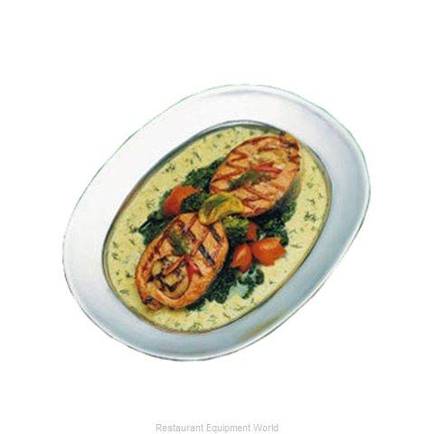 Bon Chef 2002BLKSPKLD Platter, Aluminum