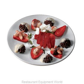 Bon Chef 2454PWHT Plate, Metal