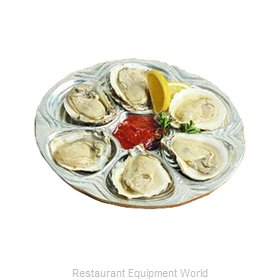 Bon Chef 5017BLKSPKLD Oyster Plate