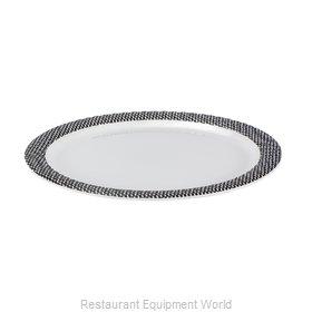 Bon Chef 53925WHITE-BLK Plate, Plastic