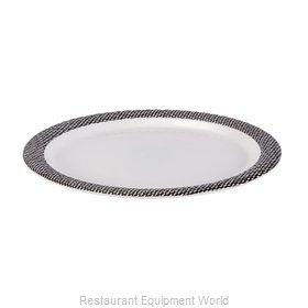 Bon Chef 53926WHITE-BLK Plate, Plastic