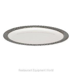 Bon Chef 53927WHITE-BLK Plate, Plastic