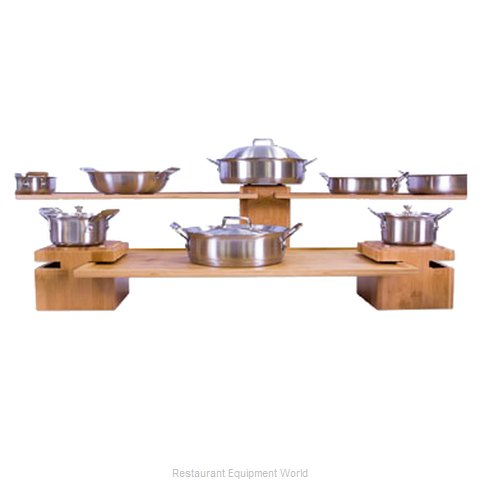 Bon Chef 9732 Decorative Display Shelf Tray (Magnified)
