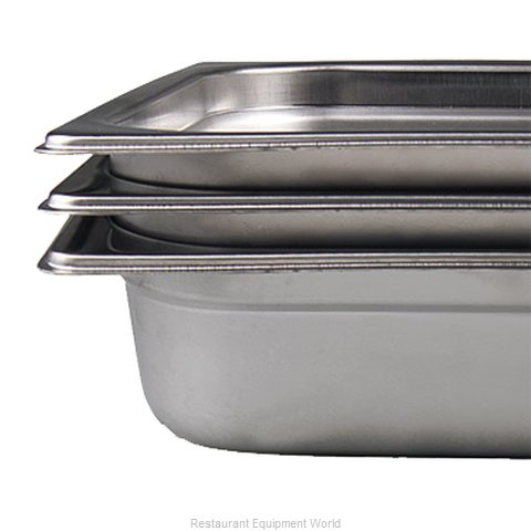 Browne 22232 Steam Table Pan, Stainless Steel (Magnified)