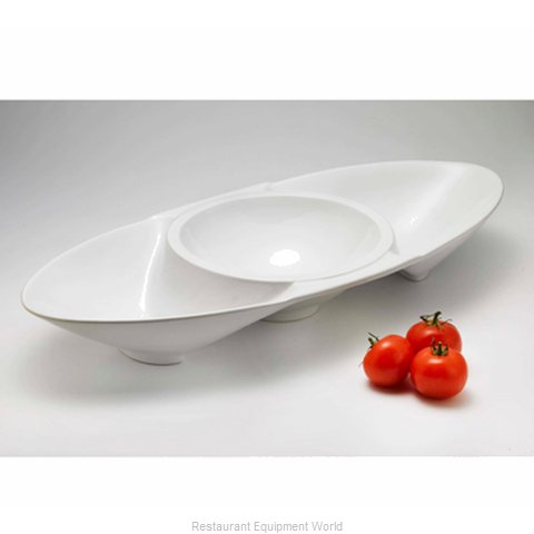 Browne 563898 China Compartment Dish Bowl