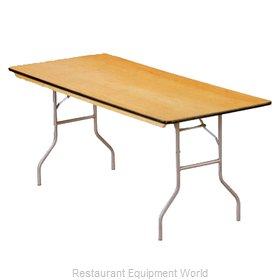 Buffet Enhancements 1BWD130005 Folding Table, Rectangle