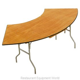 Buffet Enhancements 1BWD130011 Folding Table, Serpentine/Crescent
