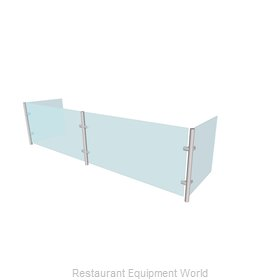 Buffet Enhancements WFQ1012-72 Sneeze Guard, Stationary