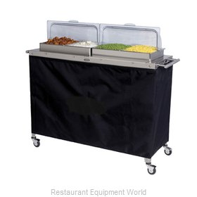 Cadco CBC-4RT Mobile Buffet Warming Carts