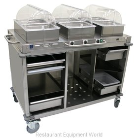 Cadco CBC-HHH-LST-4 Serving Counter, Hot Food, Electric