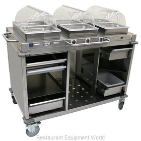 Cadco CBC-HHH-LST Serving Counter, Hot Food, Electric