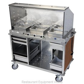 Cadco CBC-HHH-SG-L6-4 Serving Counter, Hot Food, Electric