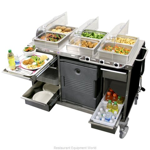 Cadco CBC-HHH Serving Counter Hot Food Steam Table Electric