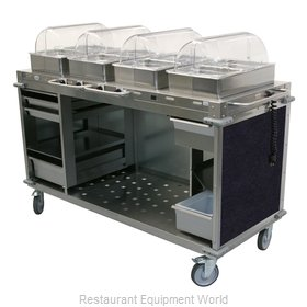 Cadco CBC-HHHH-L4-4 Serving Counter, Hot Food, Electric