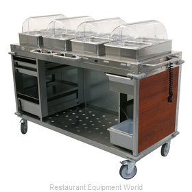 Cadco CBC-HHHH-L5-4 Serving Counter, Hot Food, Electric