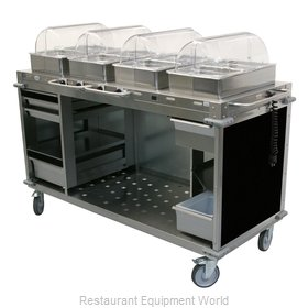 Cadco CBC-HHHH-L6-4 Serving Counter, Hot Food, Electric