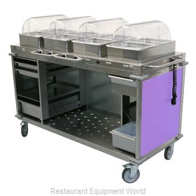 Cadco CBC-HHHH-L7 Serving Counter, Hot Food, Electric
