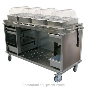 Cadco CBC-HHHH-LST-4 Serving Counter, Hot Food, Electric