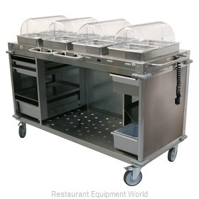 Cadco CBC-HHHH-LST Serving Counter, Hot Food, Electric