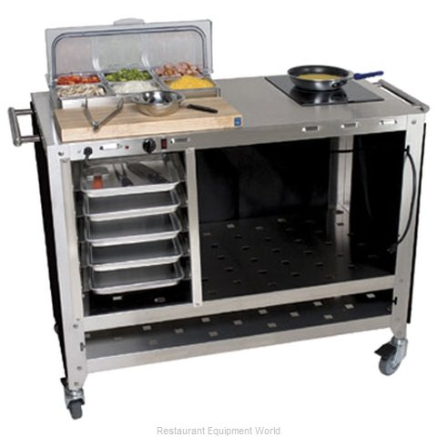 Cadco CBC-PHR-6 Serving Counter Hot Food Steam Table Electric