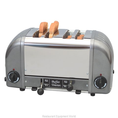 Cadco CBF-4M 4 Slot Buffet Toaster Stainless Metallic Grey