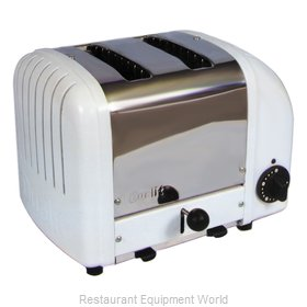 Cadco CBT-2 2 Slot Bagel Toaster; Stainless White