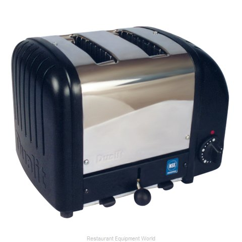 Cadco CBT-2B 2 Slot Bagel Toaster; Stainless Black
