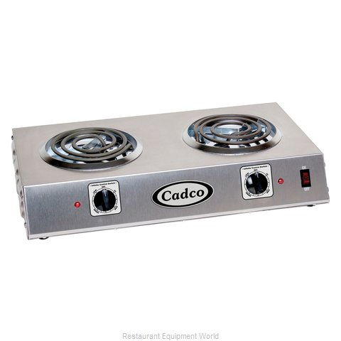 Cadco CDR-1T Double Burner Buffet Range (Magnified)