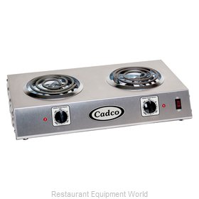 Cadco CDR-1T Double Burner Buffet Range
