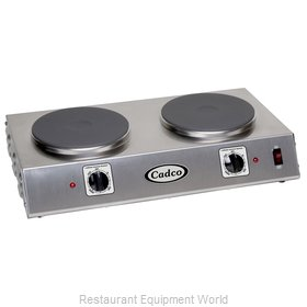 Cadco CDR-2C Hotplate, Countertop, Electric