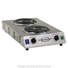 Cadco CDR-2TFB Hotplate, Countertop, Electric