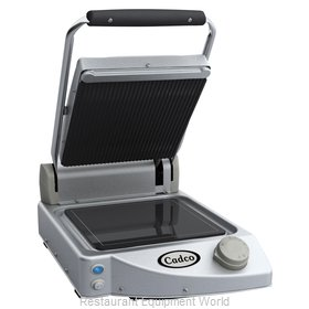 Cadco CPG-10 Single Panini Clamshell Grill Stainless