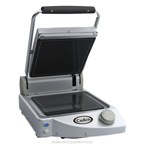 Cadco CPG-10F Single Panini Clamshell Grill Stainless