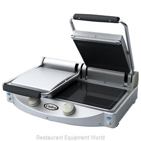 Cadco CPG-20 Double Panini Clamshell Grill