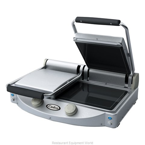 Cadco CPG-20F Double Panini Clamshell Grill
