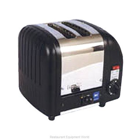 Cadco CTB-2 2 Slot Toaster, Stainless Black