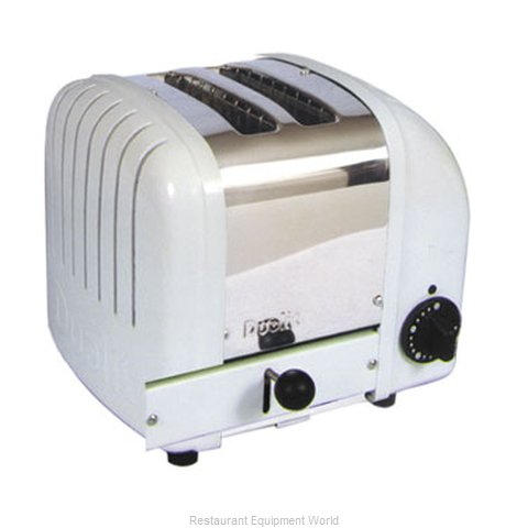 Cadco CTW-2 2 Slot Toaster, Stainless White