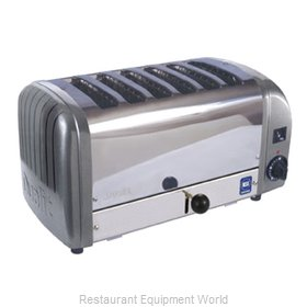 Cadco CTW-6M 6 Slot Toaster, Stainless Metallic Grey