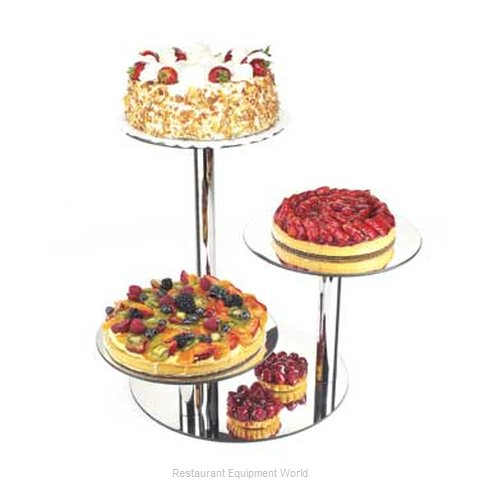 Cal-Mil Plastics 1002-16 Tiered Display Server Stand (Magnified)