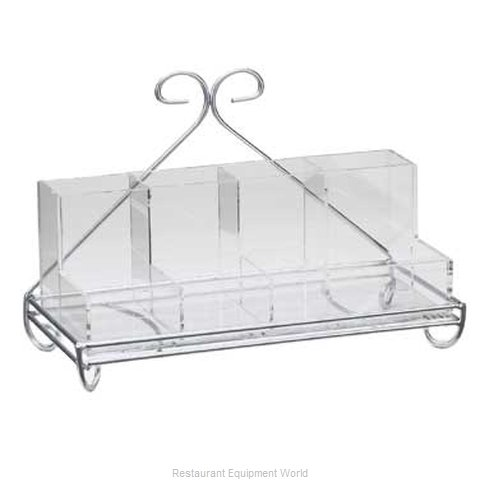 Cal-Mil Plastics 1082-39 Condiment Caddy Tabletop Rack (Magnified)