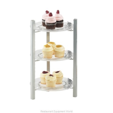Cal-Mil Plastics 1136-8-74 Tiered Display Server Stand (Magnified)