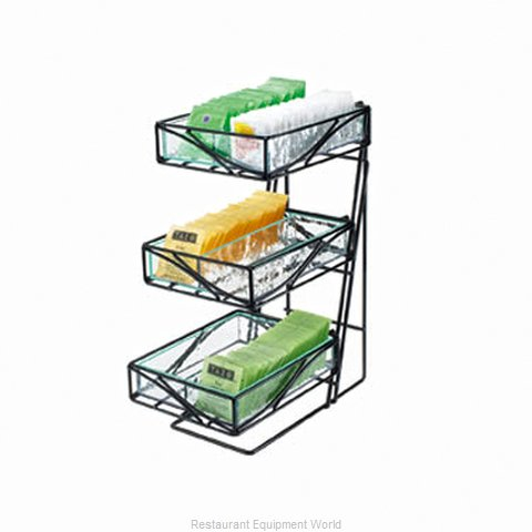 Cal-Mil Plastics 1235-TEA Tiered Display Server Stand (Magnified)