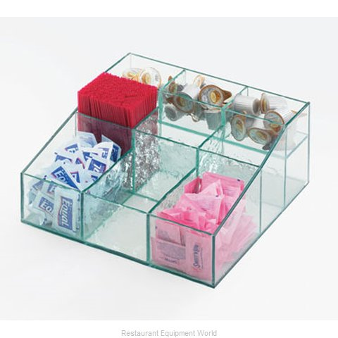 Cal-Mil Plastics 1260-43 Condiment Caddy Countertop Organizer (Magnified)