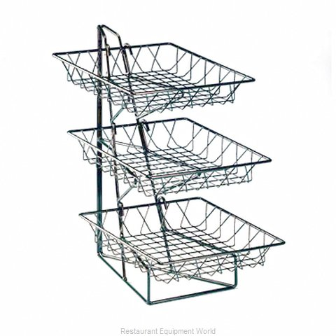 Cal-Mil Plastics 1293-3 Display Stand, Basket (Magnified)