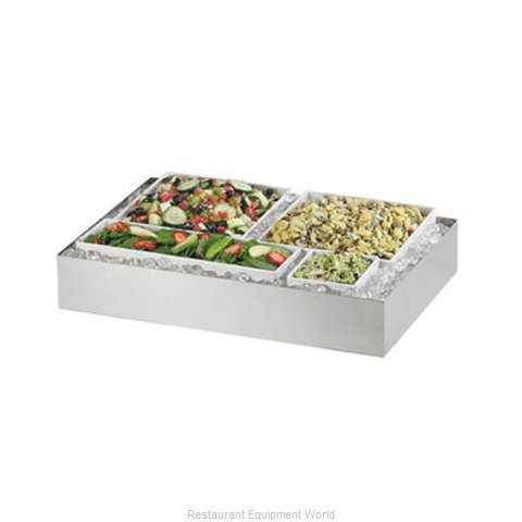 Cal-Mil Plastics 1398-55 Ice Display Tray, Decorative (Magnified)