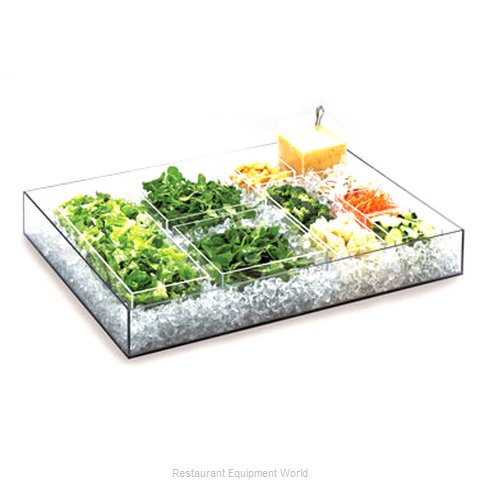Cal-Mil Plastics 1399-12 Ice Display Tray Decorative (Magnified)