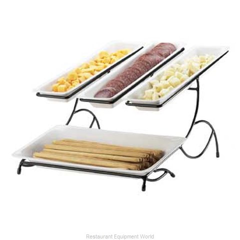 Cal-Mil Plastics 1406-13 Tiered Display Server Stand (Magnified)